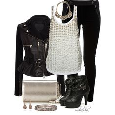 """Biker Chic"" by imclaudia-1 on Polyvore"