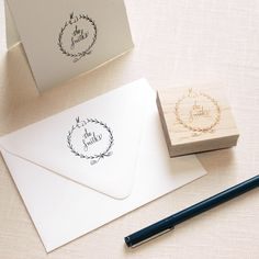 New! Order a stamp with your design, using Stephanie Fishwick's Custom Crest Creator!