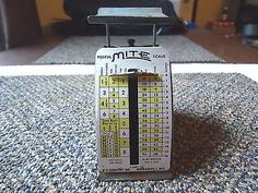 """Vintage Mite # D-1649 Working Postal Scale 1949 Rates """" GREAT COLLECTIBLE ITEM """" #vintage #collectibles #home"""