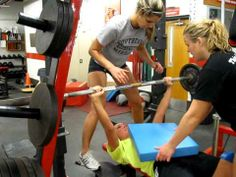 ▶ Women's Volleyball - Airex Bench Press 110x12 - YouTube