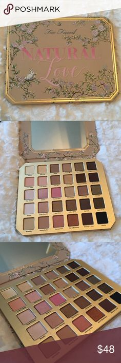 Too Faced Natural Love Eyeshadow Palette New, never used Too Faced Natural Love Eyeshadow Palette Too Faced Makeup Eyeshadow