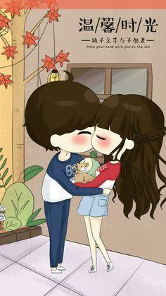 รูปภาพ art, baby doll, and cute art Love Cartoon Couple, Chibi Couple, Cute Love Cartoons, Kawaii Chibi, Cute Chibi, Anime Chibi, Anime Couples, Cute Couples, Cartoon Clip