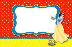 Branca de Neve – Kit Completo com molduras para convites, rótulos para guloseimas, lembrancinhas e imagens!   Fazendo a Nossa Festa