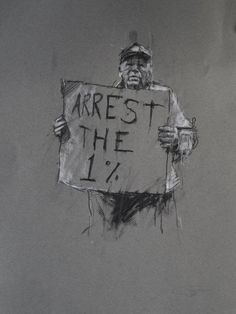Occupy Art: Protesters Captured on Newsprint