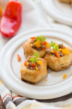 Spicy sausage tarts