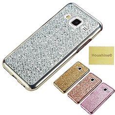 J7(J710) 2016 Glitter TPU Case, Houshine Premium Electroplated Bumper Bling Soft Cover Case for Samsung Galaxy J7 J710 2016, Silver,…