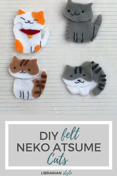 felt neko atsume cats craft. Would make cute brooches.