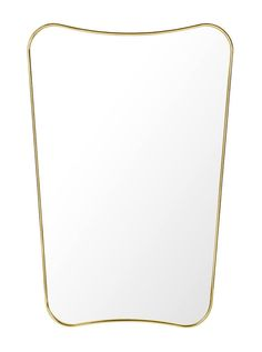 Gubi has revived many of the Italian designer Gio Ponti works, including the FA Wall mirror, a wall mirror in classic Art Deco style with a frame of brass. Gio Ponti, Decorative Accessories, Home Accessories, Gold Taps, Design Bestseller, Bathroom Trends, Used Iphone, Messing, Mirrors