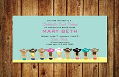 Items similar to Floppy Hat Beach Bachelorette Weekend Invitation- Printable Beach Bachelorette Weekend on Etsy Bachelorette Party Planning, Beach Bachelorette, Bachelorette Party Invitations, Engagement Invitation Wording, Online Printing Companies, Custom Invitations, Invites, File Size, Beach Engagement