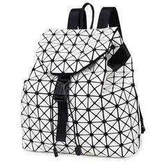 Stylish Geometric Lady Backpack