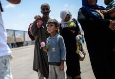 Photographer Bulent Kilic witnessed the chaos earlier this year A Syrian boy holds a rose after he arrives at Turkey through the Turkish crossing gate in Akçakale, in the Şanlıurfa province. June 1...