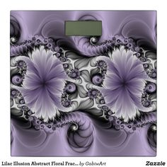 Shop Lilac Illusion Abstract Floral Fractal Art Fantasy Bathroom Scale created by GabiwArt. Fractal Art, Fractals, Grey Pictures, Purple Lilac, Fantasy World, Illusions, Bathroom Scales, Fancy, Abstract