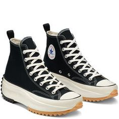 Converse x JW Anderson Runstar Hike 'Black & Egret' - Where to buy online Converse Logo, Black Converse, New Converse, Outfits With Converse, Custom Converse, Converse Shoes High Top, Platform Converse, Platform Sneakers, High Top Sneakers