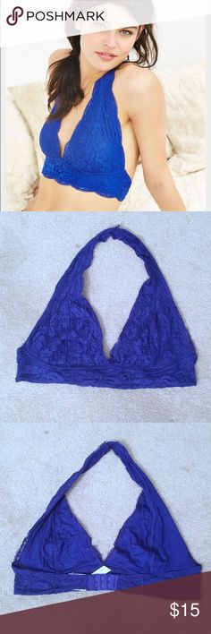 Urban outfitters pins n needles blue halter bra Urban outfitters pins n needles blue lace halter bra. Urban Outfitters Intimates & Sleepwear Bras