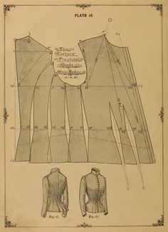 36 victorian dress outfit sewing patterns vests jackets design your own theatre costumes 133 pgs printable or read on your ipad or tablet Costume Patterns, Dress Sewing Patterns, Clothing Patterns, Fabric Sewing, Skirt Patterns, Loom Patterns, Blouse Patterns, Vintage Patterns, Vintage Sewing