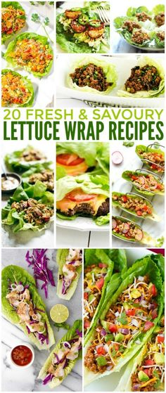 Lettuce wrap recipes are a great idea when you want to cut back on carbs. You can make lettuce wraps with an incredible variety of fillings. Since lettuce is very low in calories, lettuce wraps can work for so many different types of diets, depending on t