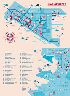 Ad Summit 2014 Subic Map by Joanna Malinis, via Behance