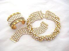 Swarovski Crystal and Pearl Rhinestone Chain by zoeJaneJewels1, $115.00
