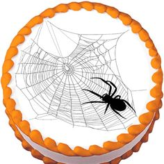Spider on Messy Web Halloween Edible Cake Topper | My Party Helpers | http://mypartyhelpers.com/products/spider-on-messy-web-halloween-edible-cake-topper