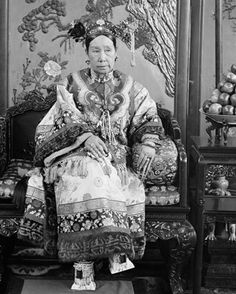 The Empress Dowager Cixi; China, Qing dynasty, 1903-1904.  From the 1860s until her death, the Empress Dowager Cixi (1835–1908) was the dominant political figure of China's Qing dynasty (1644–1911), acting as regent to two successive emperors. During her reign, the Qing court came to be regarded as conservative, corrupt, and incompetent. The situation worsened after the Boxer Rebellion of 1900, when Cixi was accused of encouraging the killing of foreigners and Chinese Christians.