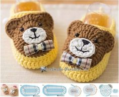New Crochet Patterns Baby Boots Free Knitting Ideas Crochet Baby Boots, Knitted Booties, Crochet Teddy, Crochet Baby Clothes, Crochet Shoes, Crochet Slippers, Baby Booties, Knit Crochet, Baby Shoes