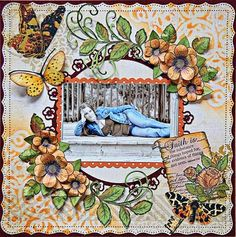 Click to Zoom: Posy Patch & Butterflies Layout