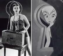 There is an urban legend that the original animated version of Tinker Bell was modeled after Marilyn Monroe. However, Disney animator Marc Davis's reference was actress Margaret Kerry Retro Disney, Vintage Disney, Disney Love, Disney Stuff, Peter Pan And Tinkerbell, Peter Pan Disney, Walt Disney, Disney Magic, Disney And Dreamworks