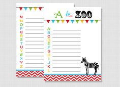 A to Zoo FREE Alphabet Printable ~ add a little abc learning to your next zoo trip!