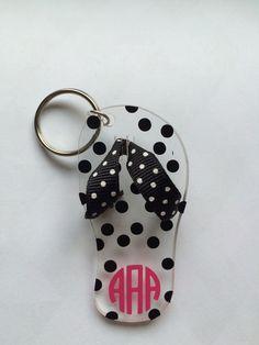 Flip Flop Keychain by ThreeDaisiesCrafts on Etsy