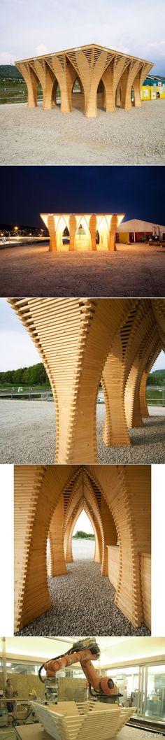wood automan Pavilion