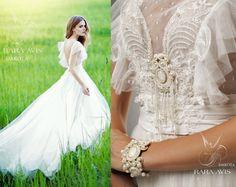 Boho wedding dress DAKOTA beach wedding by RaraAvisAngeEtoiles