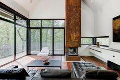 Propriété au style unique sur un terrain de 45 acres dans les Cantons-de-l'Est - Joli Joli Design