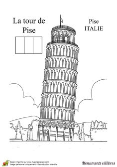 National Landmark Kids Coloring Pages Free Colouring