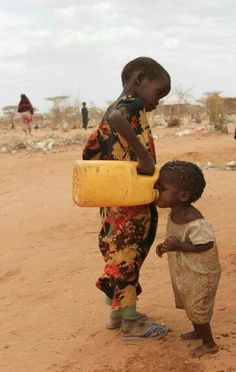 Sharing water is a beautiful thing.  Remember as you turn on the facet or grab that bottle that around the world there are people struggling every day to get their water. Let's help! Check out water.org for ways.
