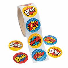 Superhero Roll Stickers 2.50 for 100
