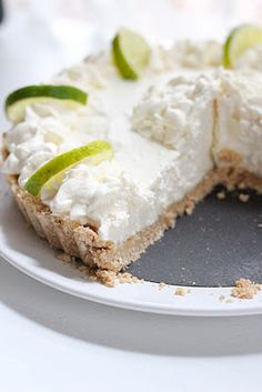 no bake key lime pie.. I may try it with a less healthy crust as a different taste for Thanksgiving