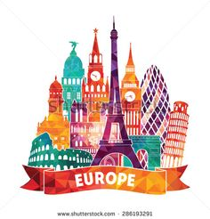 Find Europe Detailed Silhouette Vector Illustration stock images in HD and millions of other royalty-free stock photos, illustrations and vectors in the Shutterstock collection. Thousands of new, high-quality pictures added every day. Travel Illustration, Watercolor Illustration, Tourism Day, Famous Monuments, Skyline Art, Travel Party, Instagram Highlight Icons, Silhouette Vector, Travel Posters