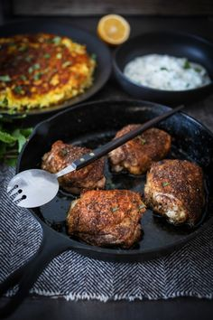 Feasting at Home : Persian Chicken with Chelow and Yogurt Sauce