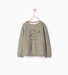 Image 1 of Shiny heart sweatshirt from Zara Girls 4, Cute Girls, Teen Boys, Sweat Shirt, Zara United Kingdom, Cute Girl Outfits, Pusheen, Heart, Sweaters