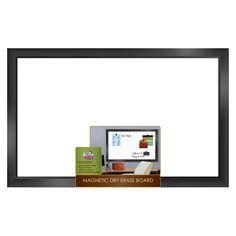 The Board Dudes Black Frame Dry Erase Board 22in x 35in.. Memo wall!