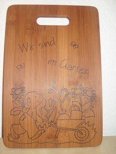 """""""Wir sind im Garten"""" Türschild von Muffelchens  Bretterbude auf DaWanda.com"""