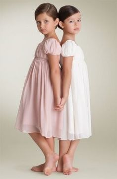 Sweet, age-appropriate dresses for little girls. Love it.