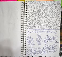 Quilting Sketch Book....Plume Background Fill