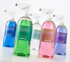 Method- All purpose cleaners... I use these daily... Always have at least 3 bottles on hand!
