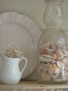 Cottage Living - from Beach to Burbs:  sea shell decor