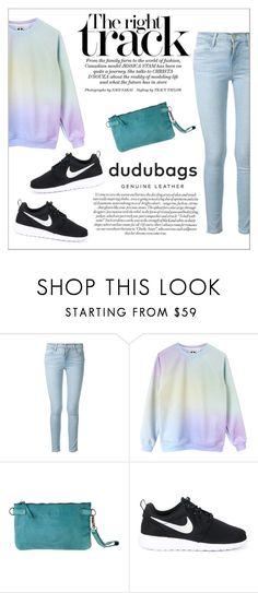 """""""dudubags"""" by water-polo ❤ liked on Polyvore featuring Frame Denim, NIKE, polyvoreeditorial and dudubags"""