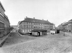 Hackescher Markt 1871, links Neue Promenade, rechts Oranienburger Straße, H.Rückwardt