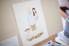 Custom family illustrations