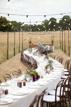 outdoor wedding Sarah Chintomby Chintomby Moore feast in the field -- fantastic rustic outdoor wedding -minus the hotly toity table clothes, this is awesome! Wedding Table Layouts, Wedding Themes, Wedding Tips, Dream Wedding, Wedding Decorations, 2017 Wedding, Wedding Goals, Wedding Photos, Rustic Outdoor