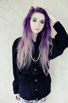 Purple hair @Sherlock Holmes like this maybe??